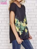 Czarna koszula z motywem kwiatów                                  zdj.                                  4