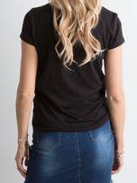 Czarna koszulka z napisem                                  zdj.                                  2