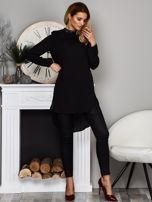 Czarna koszulowa tunika z koronką                                  zdj.                                  4