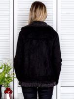 Czarna kurtka z kożuszkiem                                   zdj.                                  2