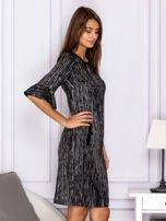 Czarna melanżowa sukienka                                  zdj.                                  3