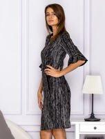 Czarna melanżowa sukienka                                  zdj.                                  5