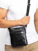 Czarna męska torba listonoszka                                  zdj.                                  2