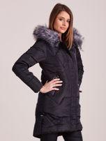 Czarna pikowana kurtka na zimę                                  zdj.                                  5