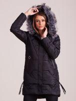 Czarna pikowana kurtka na zimę                                  zdj.                                  6