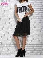Czarna plisowana spódnica do kolan                                  zdj.                                  2
