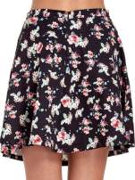 Czarna rozkloszowna mini spódniczka w łączkę                                                                          zdj.                                                                         7