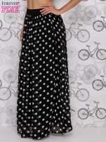 Czarna spódnica maxi w białe grochy                                  zdj.                                  3