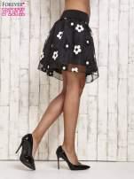Czarna spódnica mini w kwiaty                                  zdj.                                  4