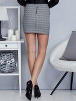 Czarna spódnica w kratkę z falbaną                                  zdj.                                  2