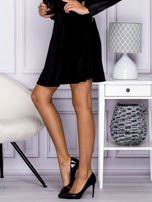 Czarna spódnica z weluru                                  zdj.                                  3