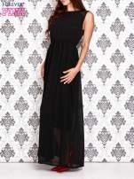 Czarna sukienka maxi z koronkowym tyłem                                  zdj.                                  3