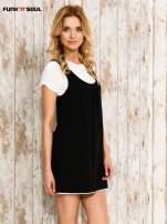 Czarna sukienka na szerokich ramiączkach                                                                          zdj.                                                                         3