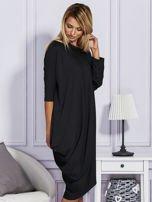 Czarna sukienka oversize                                   zdj.                                  5