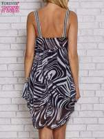 Czarna sukienka przed kolano na cienkich ramiączkach                                  zdj.                                  4