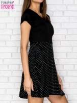 Ecru sukienka retro w groszki                                                                          zdj.                                                                         3