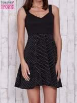 Czarna sukienka retro w groszki na ramiączkach                                  zdj.                                  1
