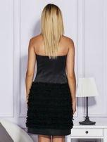 Czarna sukienka z bogato zdobioną spódnicą                                   zdj.                                  2