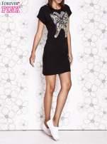 Szara sukienka z cekinowym motylem                                                                          zdj.                                                                         6