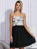 Czarna sukienka z haftowaną górą                                  zdj.                                  1