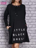Czarna sukienka z napisem LITTLE BLACK DRESS                                  zdj.                                  1