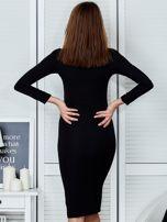 Czarna sukienka z suwakiem                                  zdj.                                  2
