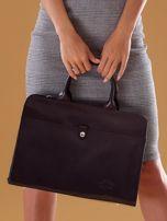 Czarna torba damska ze skóry w miejskim stylu                                  zdj.                                  1