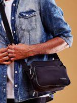 Czarna torba męska materiałowa z kieszeniami                                  zdj.                                  2