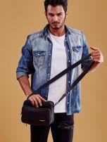 Czarna torba męska materiałowa z kieszeniami                                  zdj.                                  4