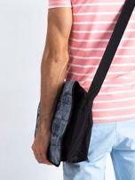 Czarna torba męska na ramię z klapką                                  zdj.                                  3