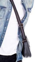 Czarna torba męska z kieszeniami na suwak                                  zdj.                                  6