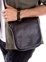 Czarna torba męska z klapką                                  zdj.                                  1
