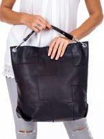 Czarna torba-plecak z odpinanymi szelkami                                  zdj.                                  3