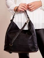 Czarna torba z motywem plecionki                                  zdj.                                  3