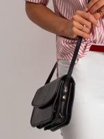 Czarna torebka damska ze skóry naturalnej                                  zdj.                                  3