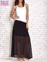 Czarna transparentna spódnica maxi                                  zdj.                                  6