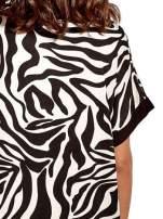 Czarna tunika ze wzorem zebry                                  zdj.                                  5