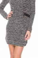 Czarna tweedowa sukienka w stylu Chanel                                  zdj.                                  6
