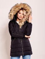 Czarna zimowa kurtka z kapturem                                  zdj.                                  5