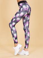 Czarne damskie legginsy z printem                                   zdj.                                  2