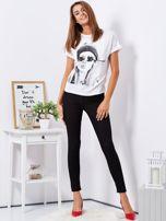Czarne dopasowane spodnie high waist                                  zdj.                                  4