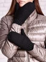 Czarne grube rękawiczki na jeden palec                                  zdj.                                  2