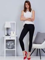 Czarne legginsy z białym lampasem                                  zdj.                                  4