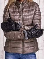 Czarne pikowane rękawiczki z jednym palcem FUNK N SOUL                                  zdj.                                  3