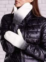 Czarne rękawiczki z dżetami i efektem ombre                                  zdj.                                  2