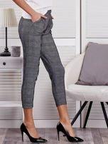 Czarne spodnie materiałowe w kratę                                  zdj.                                  5