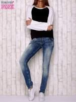 Czarno-biała gładka bluza                                  zdj.                                  2