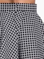 Czarno-biała mini spódnica skater we wzór op-art                                                                          zdj.                                                                         7
