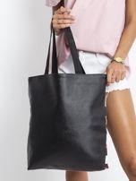 Czarno-biała torba z nadrukiem                                  zdj.                                  2