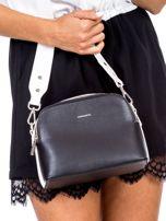 Czarno-biała torebka z szerokim paskiem                                  zdj.                                  2